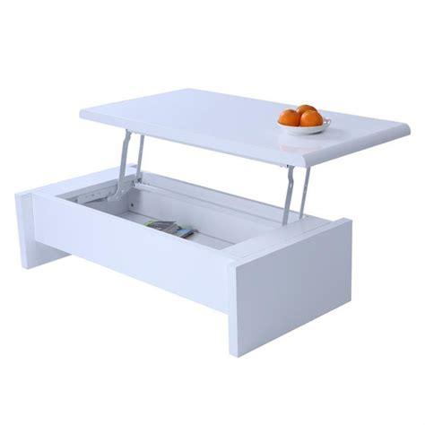 de cuisine multifonction pas cher table basse design réglable blanche avec rangement achat