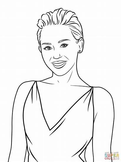 Cyrus Miley Coloring Pages Celebrity Printable