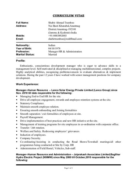 Copy Of Cv Template by Updated Cv Of Shabir Copy