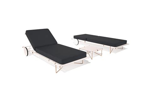 chaise alu manhattan aluminium outdoor chaise longue lounger with copper plated details