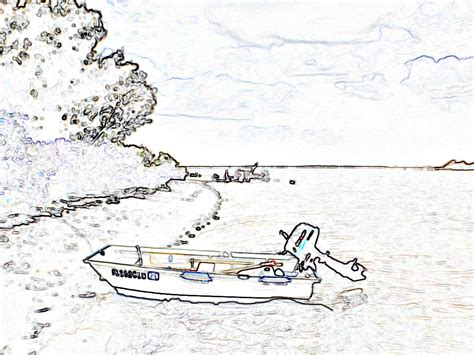 Motor Boat Outline by Nautical Clip Free Saw Patterns