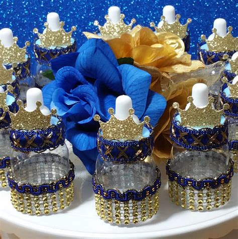 royal prince baby shower favors boys royal blue