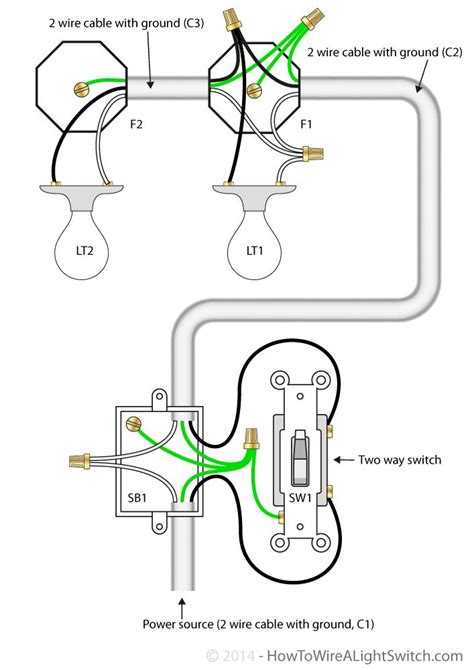 Way Switch With Power Feed Multiple Lights