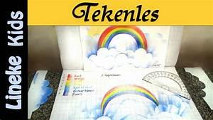 Super makkelijk! Regenboog en wolken tekenen / #24 ...