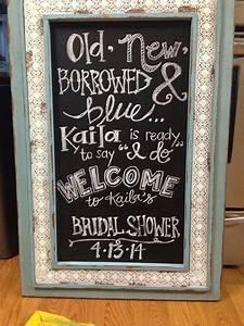 Bridal shower decor chalkboard hand lettering bridal for Wedding shower signs