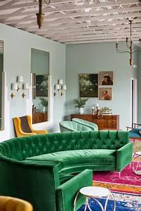 1001 idees pour un salon moderne de luxe comment rendre With tapis de course avec canapé demi lune tissu