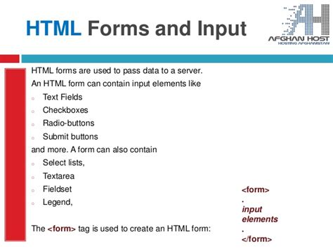 html day four w3schools