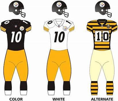 Steelers Uniforms Pittsburgh Wikipedia History Logos Team