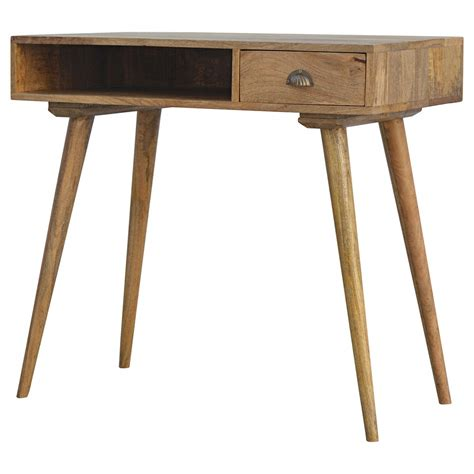 solid wood writing desk with drawers solid wood open shelf 1 drawer writing desk loch ness