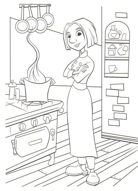 dessin de cuisine dessins de ratatouille à colorier