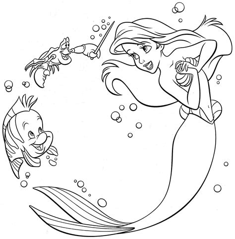 Free Little Mermaid Coloring Pages Image 20 Gianfredanet