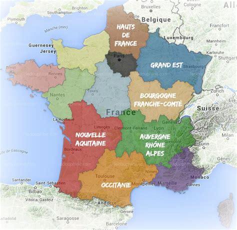 Nouvelle Carte De Par Region by Monde Les Nouveaux Noms Des R 233 Gions De