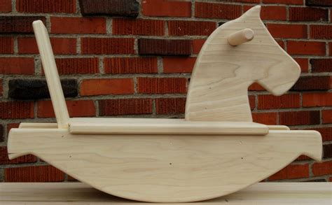 wooden rocking horse baby gift handmade wooden toy