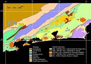 Faixa / Cinturão Ribeira Segmento Norte Mapa