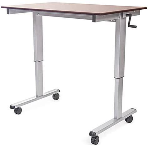Crank Adjustable Height Standing Desk by Crank Adjustable Desk Sit Or Stand Design