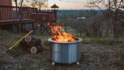 This method of building a fire will greatly reduce the smoke, and danger of flying embers. The Best Smokeless Fire Pits on Amazon - Robb Report