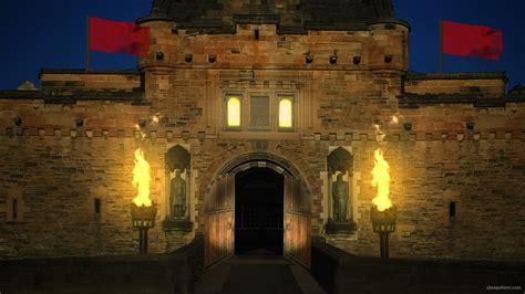 britain castle  night vj loop  full hd vj loop