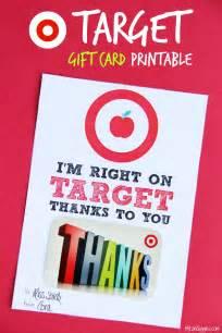 Printable Teacher Appreciation Target Gift Card