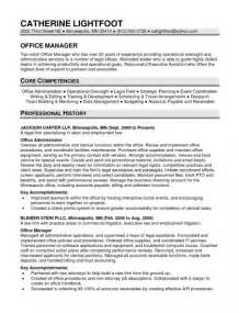 Office Work Skills For Resume by Office Manager Resume Exles Office Manager Resume