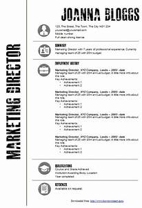 ms word resume template 12 creative black and white cv With how to make a cv template on microsoft word