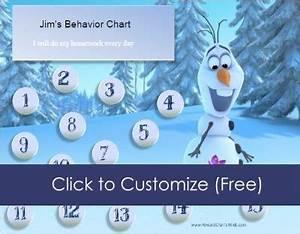 Family Chore Chart Frozen Reward Charts Customizable