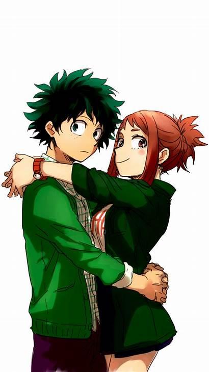 Academia Hero Manga Boku Anime Deku Ochako