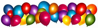Birthday Balloons Happy Clipart Ball Transparent Colorful