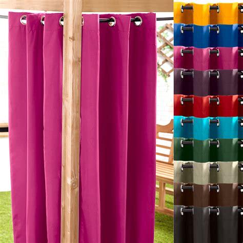 Waterproof Drapes - black 140 x 180cm outdoor curtain eyelet panel garden