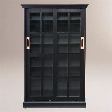 media console with bookcases black sliding door bookcase and media cabinet world market