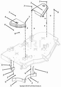 Gravely 915174  000101 - 015999  Ztx 52 Parts Diagram For Belt Covers And Baffles
