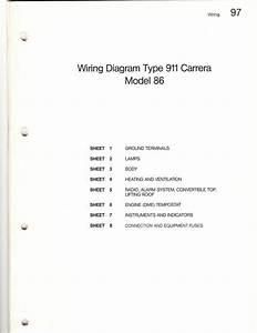 1986 And 1989 911 Carrera Wiring Diagram Sets