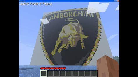 lamborghini logo mineraft art youtube