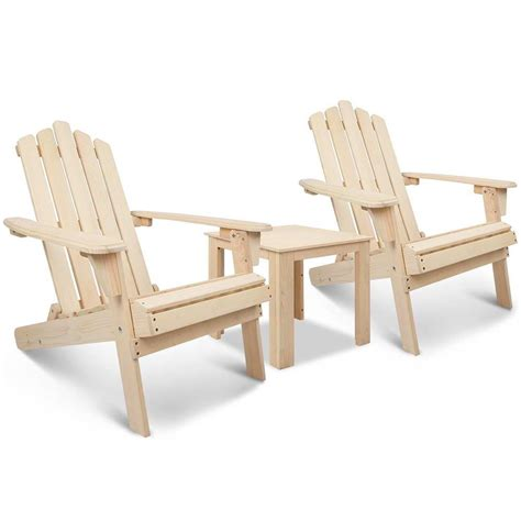 adirondack table and chairs adirondack chairs and side table 3 piece set natural