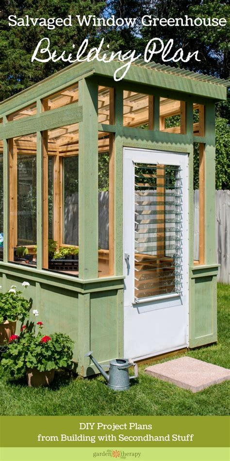 Put them on the ground and arrange them into four sections for the walls. Build an Old Window Greenhouse - Garden Therapy®