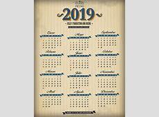 Calendarios 2019 Gratis y editables