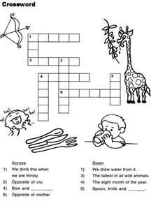 Printable Kids Crossword Puzzles