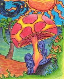 Colorful Mushroom Drawings