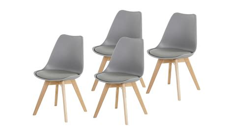Stuhl Grau by Stuhl Borkum 4er Set Kunststoff Grau Beine In Buche Massiv