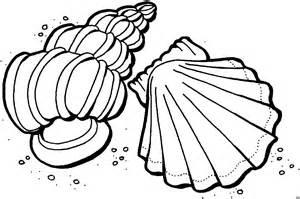Printable Seashell Coloring Page