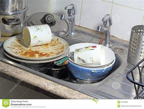 wash up kitchen sink dishes in a sink for washing up stock image image