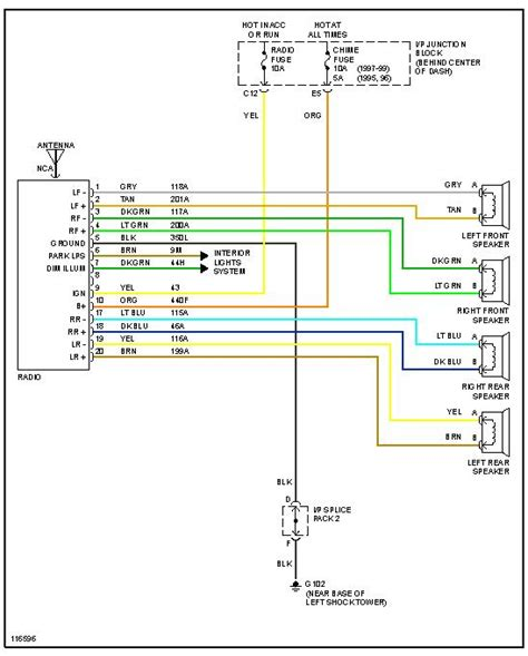 2007 Saturn Ion Radio Wire Diagram by Where Can You Find A Radio Wiring Diagram For A 1996 Saturn