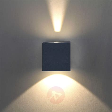 led aussenwandleuchte jarno grafit lampenweltat