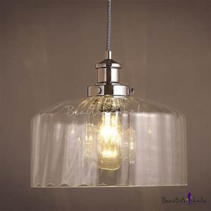 Drum shape clear glass mini pendant light beautifulhalo