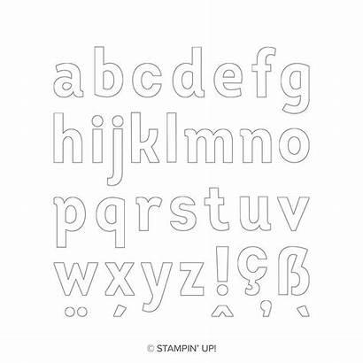 Alphabet Lined Stampin Stamp Papermadeprettier Papierschneider Stamps