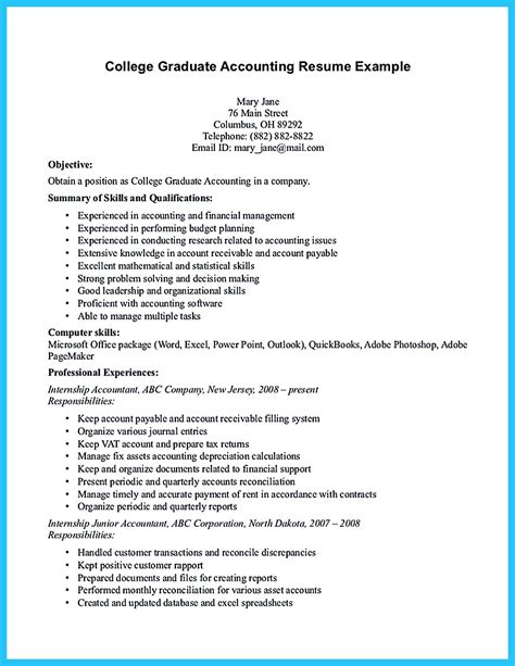 This is a great way to learn the job of an accountant. Awesome Accounting Student Resume with No Experience (With images)   Accounting student, Student ...