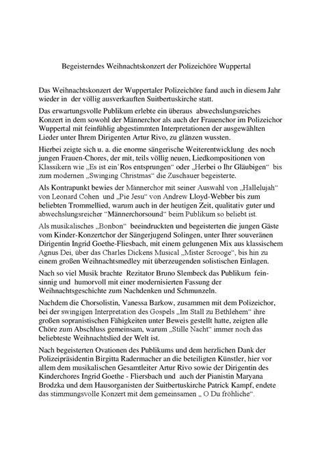 Moderne Weihnachtsgeschichten Zum Nachdenken 5534 by Presse Chorakademie Bergisch Land E V