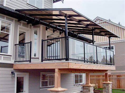 porch covering options deck and patio handrails deck covers deck cover railing patio world inspiring outdoor