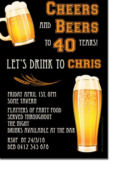 cu mens beer invitation mens birthday invitations