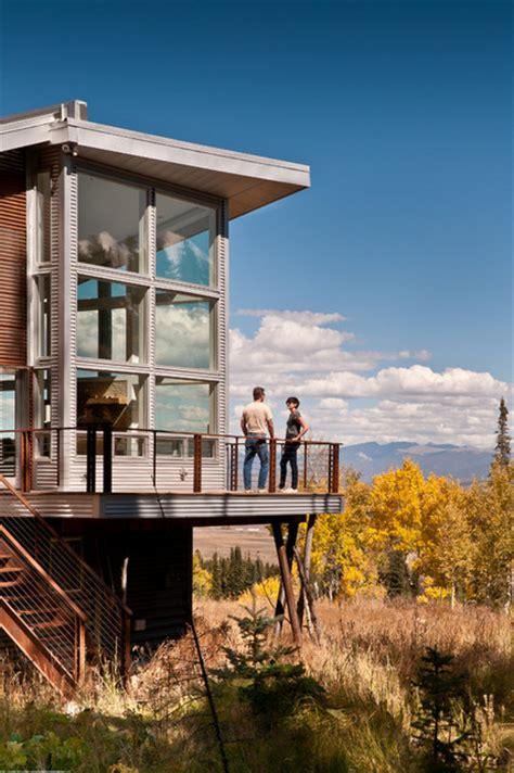 modern mountain cabin contemporary exterior denver