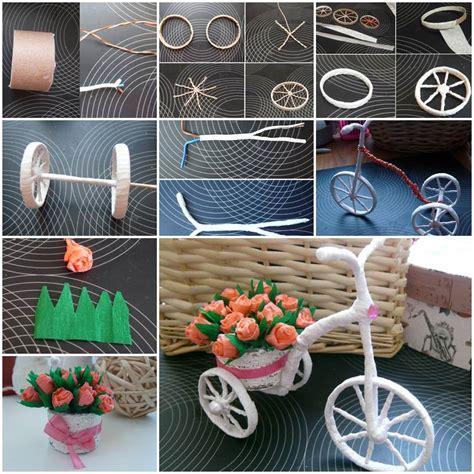 diy  bike carrying beautiful flowers decoration